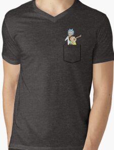 rick and morty pocket v2 Mens V-Neck T-Shirt