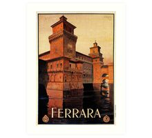 Vintage Ferrara Italian travel advertising Art Print