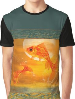 Leaping Fish Graphic T-Shirt