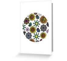 colorful doodles Greeting Card