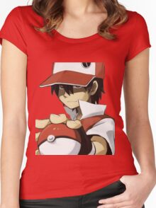 PKMN TRAINER RED Women's Fitted Scoop T-Shirt