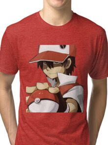 PKMN TRAINER RED Tri-blend T-Shirt