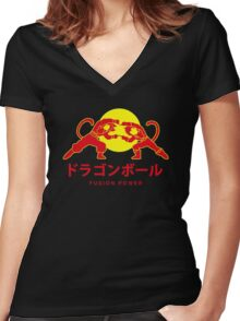 Adventures of Goku and Krillin Women's Fitted V-Neck T-Shirt