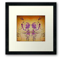 Flower Eater Framed Print