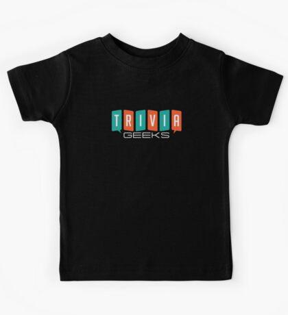 Trivia Geeks SWAG - Dark Colors Kids Tee