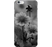 Black And White Flowers - Photography iPhone Case/Skin