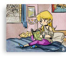 Reading Girl Canvas Print