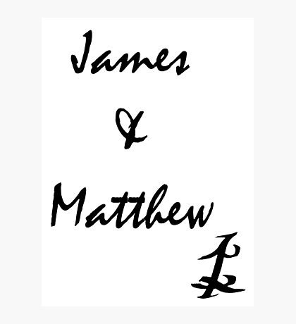 James and Matthew Photographic Print