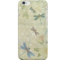 Vintage Dragonfly Floral iPhone Case/Skin
