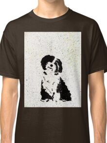 Black and White Pup Classic T-Shirt