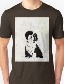 Black and White Pup Unisex T-Shirt