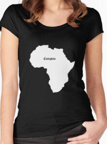 COMPTON AFRICA KENDRICK LAMAR GRAMMY Women's Fitted Scoop T-Shirt