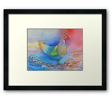 Colourful Chicken Framed Print
