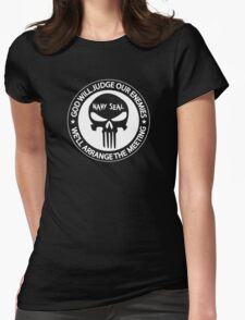 god will judge our enemies we'll arrange the meeting Womens Fitted T-Shirt