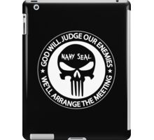 god will judge our enemies we'll arrange the meeting iPad Case/Skin