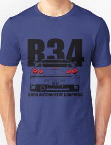 Nissan Skyline R34 Transparent Version Unisex T-Shirt