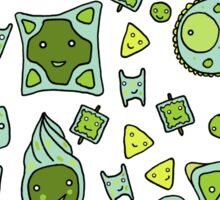 Tessellating Diatoms for skirts, duvets, notebooks, graphic tees etc Sticker
