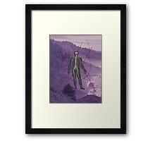 A Nervous Man Framed Print