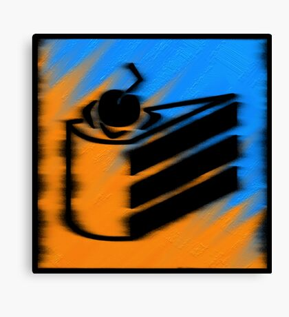 Orange and Blueberry Cake Canvas Print