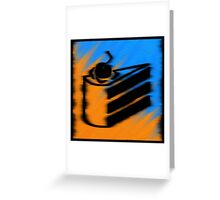 Orange and Blueberry Cake Greeting Card