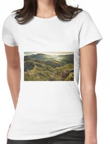 Jamieson Valley sunrise Womens Fitted T-Shirt