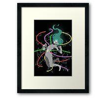Hera Glitch Framed Print