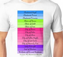 Shadowhunter Titles Unisex T-Shirt