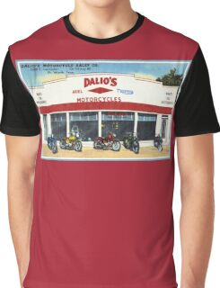 Fifties classic motorcycles dealership Fort Worth Texas Graphic T-Shirt