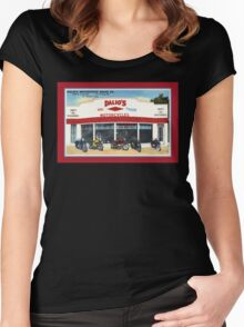 Fifties classic motorcycles dealership Fort Worth Texas Women's Fitted Scoop T-Shirt