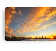 Sunset Seeing Double Canvas Print