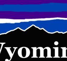 Wyoming Midnight Mountains Sticker