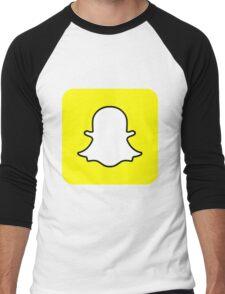 Snapchat Logo Men's Baseball ¾ T-Shirt