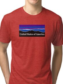 United States of America Midnight Mountains Tri-blend T-Shirt