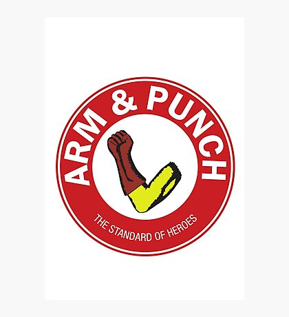 Arm & Punch One Punch Man Photographic Print
