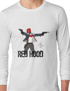 Arkham Knight Red Hood Long Sleeve T-Shirt