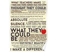 What Teachers Make - Word Art Poster