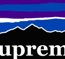 Supreme Midnight Mountains Sticker