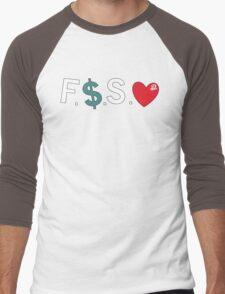 Official Fuck Money Spread Love - J.cole Men's Baseball ¾ T-Shirt