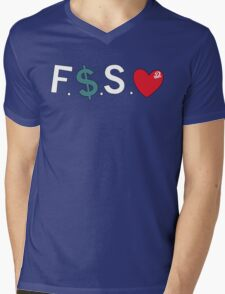 Official Fuck Money Spread Love - J.cole Mens V-Neck T-Shirt