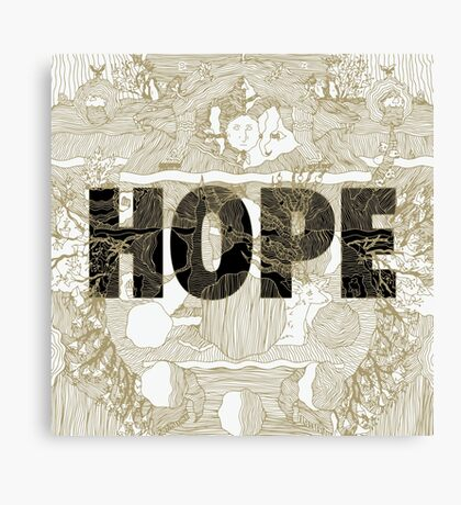 """""""Hope"""" by Manchester Orchestra Canvas Print"""