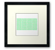 Ones and Zeros Framed Print