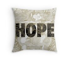 """""""Hope"""" by Manchester Orchestra Throw Pillow"""