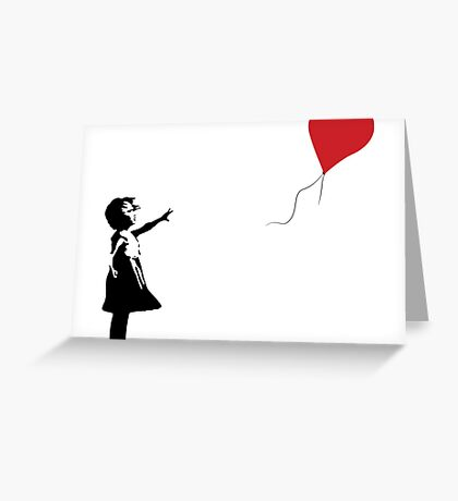Balloon Girl - Banksy Greeting Card
