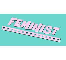 Feminist Design - Aqua Photographic Print