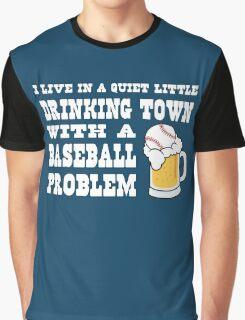 Baseball Drinking Town Graphic T-Shirt