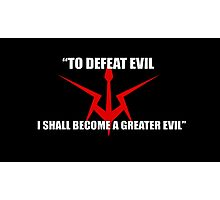 Code Geass Rugged Emblem (w/ Quote) Photographic Print