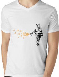 Policeman - Banksy Mens V-Neck T-Shirt