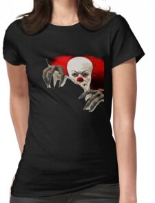 It-horror clown Womens Fitted T-Shirt