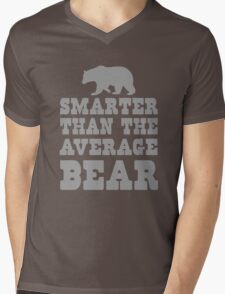 Smarter than the average bear Mens V-Neck T-Shirt