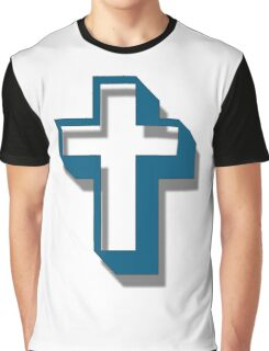 """Easter Cross"" typography Graphic T-Shirt"